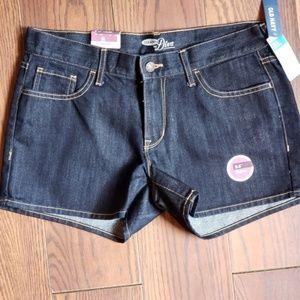 """8 Old Navy Dark Wash Denim Jean Diva Shorts 3.5"""""""